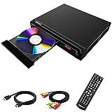 DVD-Player, DVD-Player für TV, DVD/CD/MP3-Player, HD1080, kostenlos für alle Regionen mit HDMI- und AV-Ausgang und USB-Eingang