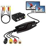 DIGITNOW!Video Grabber Überträgt Hi8 VHS auf Digital DVD für Windows 10/Mac,Video Capture Karte mit Scart/AV Adapter, Videorecorder Bearbeiten Konverter,VCR Digitalisieren