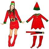 ABOOFAN Weihnachts-Elfenkostüm, Kleid, Röcke, Weihnachten, Cosplay, Outfit für Urlaub, Halloween, saisonales Verkleidungszubehör