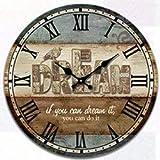 YEESEU. Haus antiker Wandtisch mutet Uhr Quartz Clocks ist EIN Familienrestaurant Küche Büro Schulen sind ideal for jeden Raum, H (Farbe: -, Größe: -)