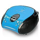 Lenco SCD24 - CD-Player für Kinder - CD-Radio - Stereoanlage - Boombox - UKW Radiotuner - Titel Speicher - 2 x 1,5 W RMS-Leistung - Netz- und Batteriebetrieb - B