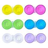Anyasen linsenbehälter 30 Stück kontaktlinsenbehälter Set kontaktlinsendose Jahresvorrat Kontaktlinsen Behälter Aufbewahrungsbehälter für unterwegs Hygiene Zuhause und Reisen (6 Farben)