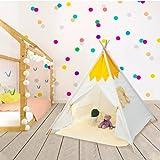 Tipi|Spielzelt für Kinder Faltbares Spielzelt für Mädchen Jungen mit Spielmatte Kinder Leinwand Zelt Kinder Dekor Tipi Kleinkind Spielhaus für Indoor Outdoor Spielzeug für Kinder Geburtstagsgeschenk