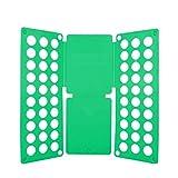 Hbao 59x70cm Erwachsene Kleidung Clip T-Shirt Jumper Aufbewahrungstasche Kann gefaltet, Zeit schnelle Kleidung sparen, Faltbrett, Wäscheständer (Color : Green)