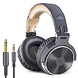 OneOdio Over Ear Kopfhörer mit Kabel Geschlossene Studiokopfhörer Faltbar mit Share Port Mikrofon Adapter-frei Professionelle Bass DJ Headphones für Podcast, Recording, Monitoring PC Handy TV