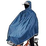 sorliva Regenponcho für Camping Fahrrad Regenmantel Regenschutz mit Kapuze, Poncho-Meeresblau