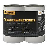 LEOCRAFT 2x Türkantenschoner je 2 m lang Auto Garagenwandschutz Türkantenschutz Autotür Garagenpolster selbstklebend grau
