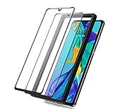 BEYEAH [2 Stück] Displayschutzfolie für Huawei P30 lite Panzerglas, [Installationswerkzeug] [Perfekt Version] [Anti-Öl] [Anti-Bläschen] (Schwarz)