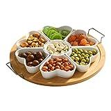 CESULIS Obstkorb, Obstteller, Nusskasten, einfache Keramikschale, Snackschale, Dessertschale, kleine Null-Nachmittagstee, Snackschale, Obstschale
