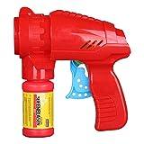 Idena 40020 – Seifenblasenpistole mit Seifenblasenlösung 53 ml, in der Farbe rot, ideal für den Sommer, im Garten und auf Partys