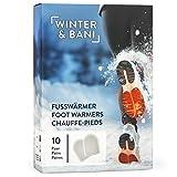 Winter & Bani Wärmepads 10 x 2 Stück – 8 Stunden warme Füsse – Extra dünne Fußwärmer Pads – Natur pur – Sofort einsatzbereit – Selbstkleb