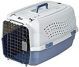 Amazon Basics Transportbox für Haustiere, 2 Türen, 1 Dachöffnung, 58