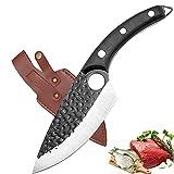 Akatomo chinesisches Kochmesser Messer Hackmesser Handgemachtes Küchenmesser Metzger Messer Knochenmesser Brotmesser Filetiermesser Gemüsemesser Obstmesser für Geschenke, Camping, BBQ