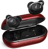 Anker Soundcore Liberty Neo Bluetooth Kopfhörer, Kabellose Kopfhörer mit Premium Klangprofil mit intensivem Bass, IPX7 Wasserschutzklasse, Bequemer Halt, Bluetooth 5.0 (Rot) (Generalüberholt)
