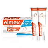 elmex Zahnpasta KARIESSCHUTZ, Doppelpack (2 x 75 ml) - Zahncreme schützt vor Karies und stärkt den Zahnschmelz