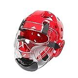 ALEOHALTER Kickbox-Kopfbedeckung, Karatesanda-Helm, Taekwondo-Kopfbedeckung, Thaibox-Kopfschutz, Helm für Gesicht, Wangen, Ohren, Kopf, M