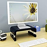 hongbanlemp Notebook Ständer PC Bracket Hals Erhöhung Shelf Desktop Storage Basis-Display-Bildschirm Raised TV Schrank-Monitor-Schirm Raised-Rack Notebook Stand (Color : Black)