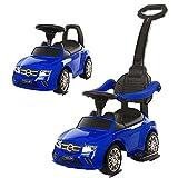 Rutschauto, Kleinkindfahrzeuge, kompatibel für Rutschauto mit Griff Lenkradhorn Fußstütze für Kleinkind Baby 1-4 Jahre alt Auto Spielzeug Geschenk