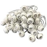 DEGAMO Spanngummi für Zeltplanen mit Kugel, Expanderschlinge, 50 Stück, weiß