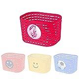 P4B   Fahrradkorb für Kinder mit Einhornmotiv in Pink   Kinderfahrradkorb mit einstellbaren Schnellverschlüsse   Befestigung mit Kunststoffbändern   Biegbare Befestigungsbügel
