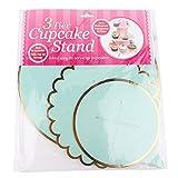 Uxsiya Cupcake Stand Pappregal für Snacks für Party Servierhalter(Green)