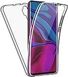 CaseNN Kompatibel mit Xiaomi Mi Note 10 / Mi Note 10 Pro / CC9 Pro Hülle 360 Grad Handyhülle Silikon und PC Crystal Clear Full Body Schutz Slim Transparent mit Displayschutz Schutzhülle Durchsichtig