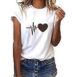T Shirt Grau Handofblood Tshirt Vintage Damen Damen Elegant T-Shirt Damen Sommer Kurzarm Oberteile Pusteblume Drucken Tee Tops Casual Loose Shirts(EIN,XXL)