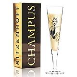 Ritzenhoff Champus Champagnerglas von Peter Pichler (La Parisienne), aus Kristallglas, 205 ml, mit edlen Goldanteilen