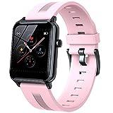 Yumanluo Smart Watch Fitness Uhr für Damen Herren,Voll berührbare wasserdichte Sportuhr, Gesundheitsmonitor Armband-Pink,Smartwatch Wasserdicht Fitness Armband