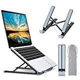"Babacom Laptop Ständer, 9-Stufe Aluminium Laptop Stand, Tragbar Höhenverstellbarer Belüfteter Notebook Ständer Kompatibel mit MacBook Pro Air, Lenovo, Dell, 10-15,6 "" Laptops Tablet, Schwarz"