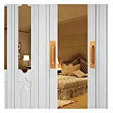 QYQS 2 Stücke Schrank Türgriffe Gold, Kommt mit 3m Kleber, Aluminiumlegierung, für Schlafzimmertüren, Schubladen, Küchentüren(Size:18cm/7.1in,Color:schwarz)