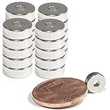 Neodym Magnet Mini Ringmagnete Mit Loch Starker Bohrung 2mm Ringmagnet 6mm x 2mm Scheiben Magnete - Flach Rund - N45 Stark (20)