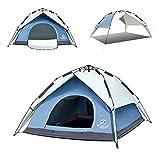 GudoInsole Sofort aufstellbares Zelt für 3–4 Personen, wasserdicht und UV-beständig, Pop-Up-Zelte für Familien, Camping, Wandern, Bergsteigen, Outdoor (blau)
