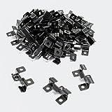 XPOtool Edelstahl Clips für Montage von Terassendielen mit 8mm Klemmhöhe, 50 Stück schwarz