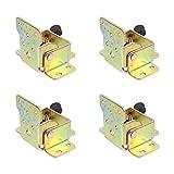 Angoily 4Pcs Möbel Klapp Scharniere 90 Grad Selbst Sperr Scharniere Tisch Stuhl Bein Scharnier Halterung Möbel Tisch Verlängerung Racks Hardware