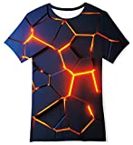 TUONROAD Jungen T-Shirt 3D Grafik T-Shirts Cool Jungen Mädchen Rundhals T-Shirt 13-14 Jahre Kinder L Größe