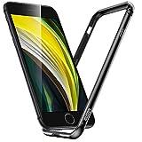 ESR Bumper Hülle kompatibel mit iPhone SE 2020, iPhone 8/7 - Metallrahmen Schutz mit weichem inneren Bumper [Keine Signalstörungen] [Erhöhter Kantenschutz] für iPhone SE(2020) - Schwarz