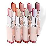8 Farben Korean Bite Lippenstifte V Schneiden Two Tone Candy Flavor Silky Moisturzing Pflegende Lippenstifte Balm C
