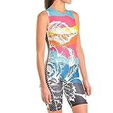 Triflare Mountain Rose Damen Triathlon-Anzug Mountain Rose, einteilig, ärmellos, Triathlon-Anzüge für Frauen, Small