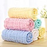 6 STK Unisex Mix Baby Mullwindel Set Muscheln Mullwindel Stoffwindeln Baby Baumwolle Faltwindeln Waschlappen (6er Pack 28x28cm)