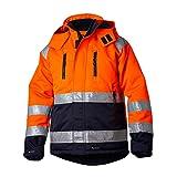 Top Swede 13101702206 Modell 131 Warnschutz Jacke, Orange/Marine, Größe L