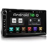 XOMAX XM-2VA757 Autoradio mit Android 10, QuadCore, 2GB RAM, 32GB ROM, GPS Navigation I Support: WiFi WLAN, 3G 4G, DAB+, OBD2 I Bluetooth, 7 Zoll / 18 cm Touchscreen, USB, SD, AUX, 2 DIN