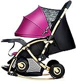 Leichter Buggy, kompakter Baby-Kinderwagen, Reisebuggy, faltbar, mit verstellbarer Rückenlehne, Einkaufskorb, mit einer Hand faltbar, A (Farbe: A)
