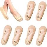 KFXD 3 Paare 3D Massage Unsichtbare Socken, Arch Support 3D Socken, Frauen FußMassage Socken 3pair Dunkelhaut