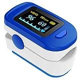 Pulsoximeter Accare, Oximeter für Messung der Sauerstoffsättigung im Blut, Fingerpulsoximeter mit LED-Display