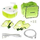 Omnibus Nubi BR-CN195 Elektrischer Inhalator Inhaliergerät Set für Kinder und Erwachsene Vernebler Inhalation Profilierte Maske für Erwachsene und Kinder (Grün)