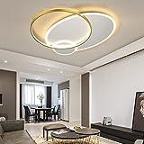 Wohnzimmerlampe LED Modern Dimmbar Schlafzimmer Oval Deckenleuchte LED Landhaus Deko Deckenlampe Ring Design Hängend Lampen Mit Fernbedienung Flurlampe Für Esszimmer Esstisch Diele Decken Leuchten