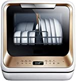 Voll Integrierte Geschirrspüler, 5 Programme, 4 Sätze,Energiespar Stand -Geschirrspüler, Home Küche Compact Geschirrspüler-220V