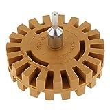 Bonarty Pneumatischer Degumming Wheel Power Drill Arbor Adapter Gummi Nadelstreifen
