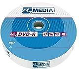 MyMedia DVD‑R 16x 4.7GB I 10er Pack Spindel I DVD Rohlinge beschreibbar I 16-fache Brenngeschwindigkeit & lange Lebensdauer I DVD-R rewritable I DVD leer I leere DVD
